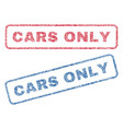 cars only textile stamps vector image vector image