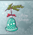 christmas ball card vector image vector image
