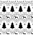 christmas tree and deer seamless pattern fashion vector image vector image