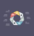 circle arrows infographic cycle diagram vector image vector image