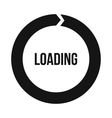 Circle loading icon simple style vector image