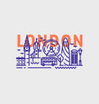city london in outline style on white vector image vector image