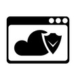 cloud protection icon vector image vector image