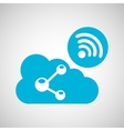 cloud share connection internet concept graphic vector image