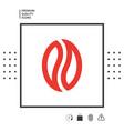 coffee seed - logo vector image