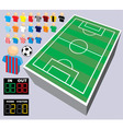 collection of soccer vector image vector image