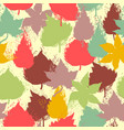 Colorful fall leaves seamless pattern