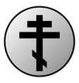 Cross button vector image vector image