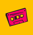 disco style old audio cassette vector image