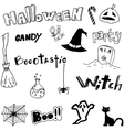 Doodle halloween holiday background vector image vector image