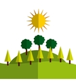 ecology landscape nature icon vector image vector image