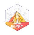 egypt - modern line travel vector image vector image