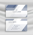 elegant business card design with geometric shapes vector image vector image