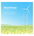energy concept background with wind turbine 2 vector image vector image