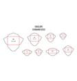 envelope standards letter standard sizes print vector image vector image