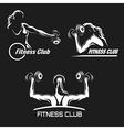 Fitness Emblem Set vector image vector image