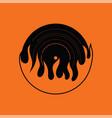 flame vinyl icon vector image vector image