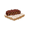 flat icon of torrone or nougat traditional vector image