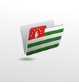 folder with image flag abkhazia vector image