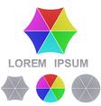 Geometric Logo Set vector image vector image