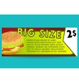 Hamburger offer card Fastfood vector image vector image
