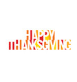 happy thanksgiving banner geometric vector image vector image