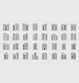 line icons company building set vector image vector image