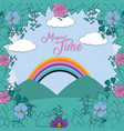 magical time landscape vector image