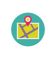 map and location symbol - concept colored icon vector image