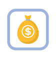 marketing money icon bag with dollars vector image vector image