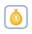 marketing money icon bag with dollars
