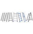 metal stairs set aluminum stairs on a white vector image vector image