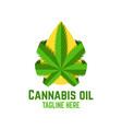 modern cannabis oil logo vector image