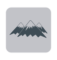 Mountain icon concept for design vector image vector image