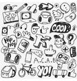 music rap graffiti doodles vector image