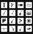 musical instruments icons set squares vector image vector image