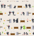 office life pattern corporate background managers vector image vector image