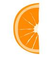 orange slice on white background isolated vector image vector image