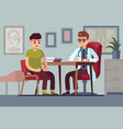 patient in doctor office healthcare hospital vector image