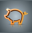pig coin bussines infographic vector image vector image