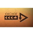 Problem of choice vector image