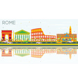 Rome Skyline with Color Buildings Blue Sky vector image vector image