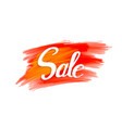 sale sign on vibrant grunge background vector image vector image