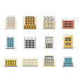scaffolding construction icons set flat style vector image