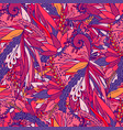 seamless pattern with abstract flowers and leaves vector image