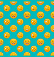 seamless pattern with cartoon cute smile face vector image vector image