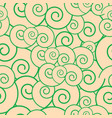seamless pattern with green circles vector image vector image