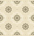 seamless vintage ship wheel pattern vector image vector image