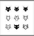 set head wolf logo vector image vector image