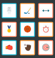 set of fitness icons flat style symbols with vector image vector image